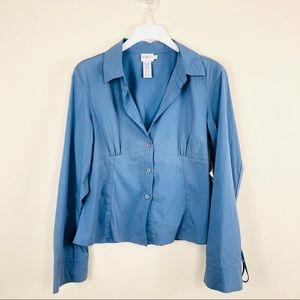 Calvin Klein Blue Button Down NWT Size Large